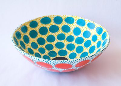 Bianca Whitehead - Bowl With Turquoise