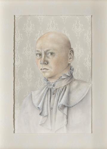 Willie Schlechter - Self Portrait In Mother's Blouse